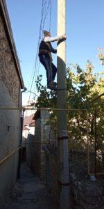 В районном центре Гергебильского района продолжаются работы по благоустройству
