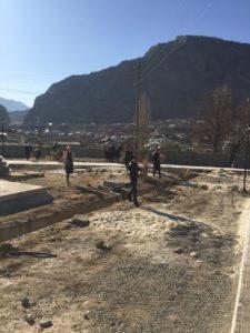Рамазан Малачилов проинспектировал строительство сквера в районном центре.