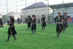 В селении Чиркей Буйнакского района открыли мини – футбольное поле