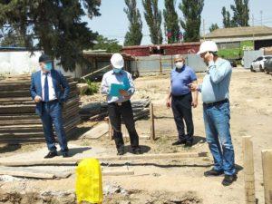Инсаф Хайруллин посетил строительную площадку в г. Дагогни