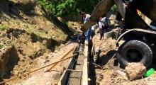 По проекту «Мой Дагестан – мои дороги» в селе Верхнее Инхо Гумбетовского района ремонтируют центральную улицу