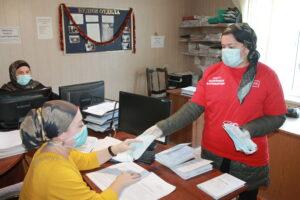 Акцию по раздаче масок провели в Гергебильском районе